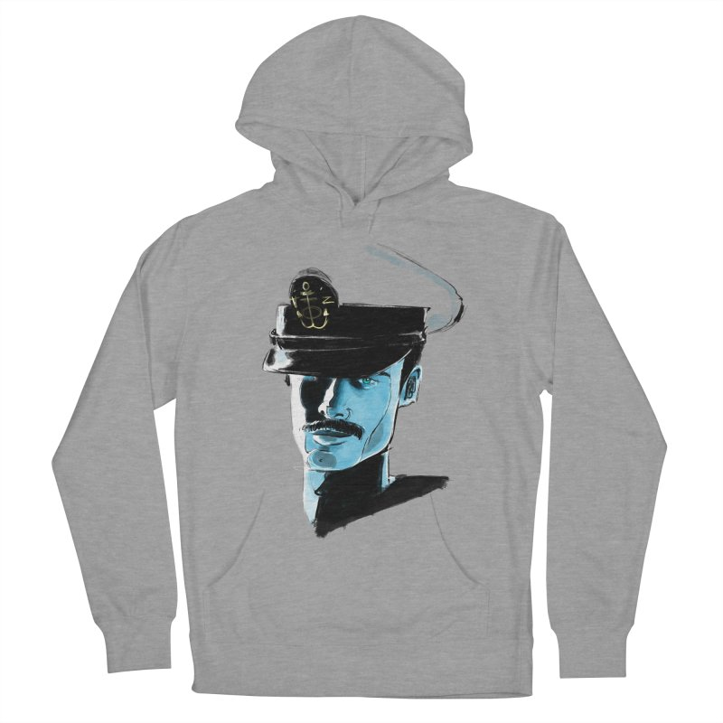 Captain Women's French Terry Pullover Hoody by Ego Rodriguez