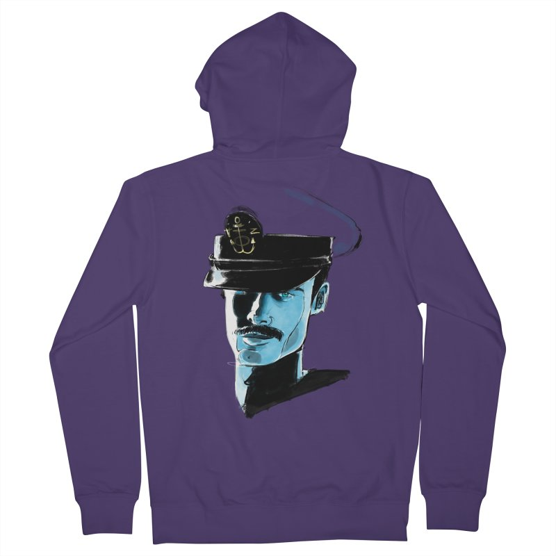 Captain Women's French Terry Zip-Up Hoody by Ego Rodriguez