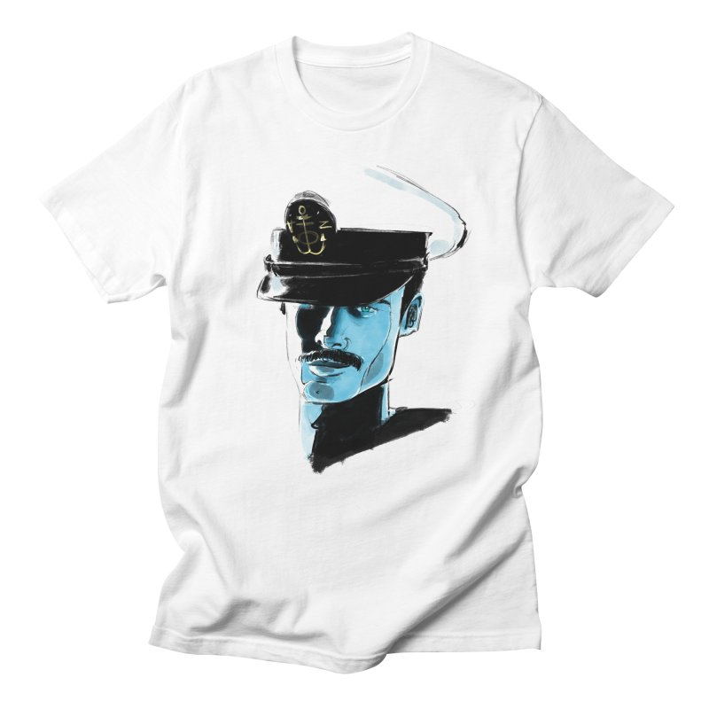 Captain in Men's Regular T-Shirt White by Ego Rodriguez