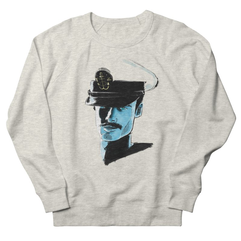 Captain Men's French Terry Sweatshirt by Ego Rodriguez