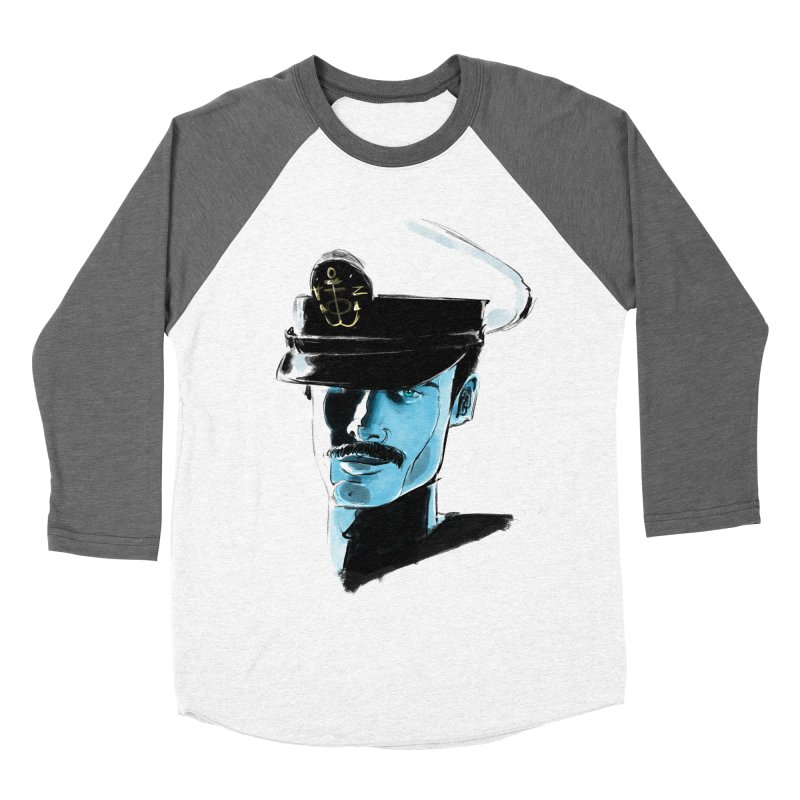 Captain Men's Baseball Triblend Longsleeve T-Shirt by Ego Rodriguez