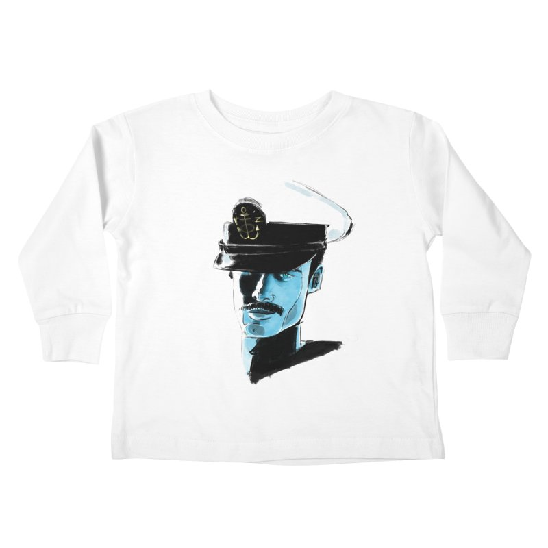 Captain Kids Toddler Longsleeve T-Shirt by Ego Rodriguez