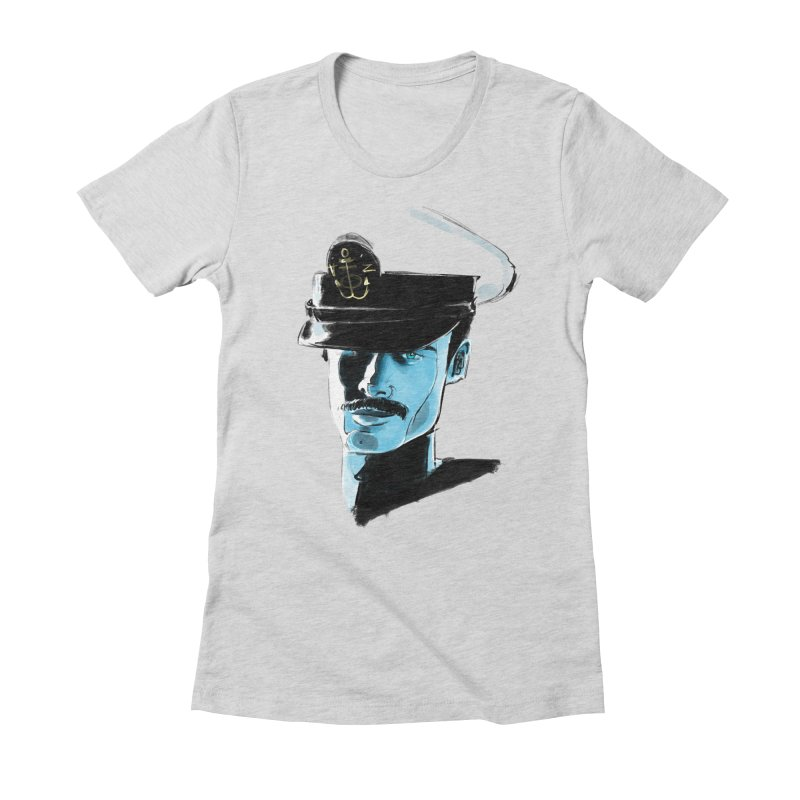 Captain Women's Fitted T-Shirt by Ego Rodriguez