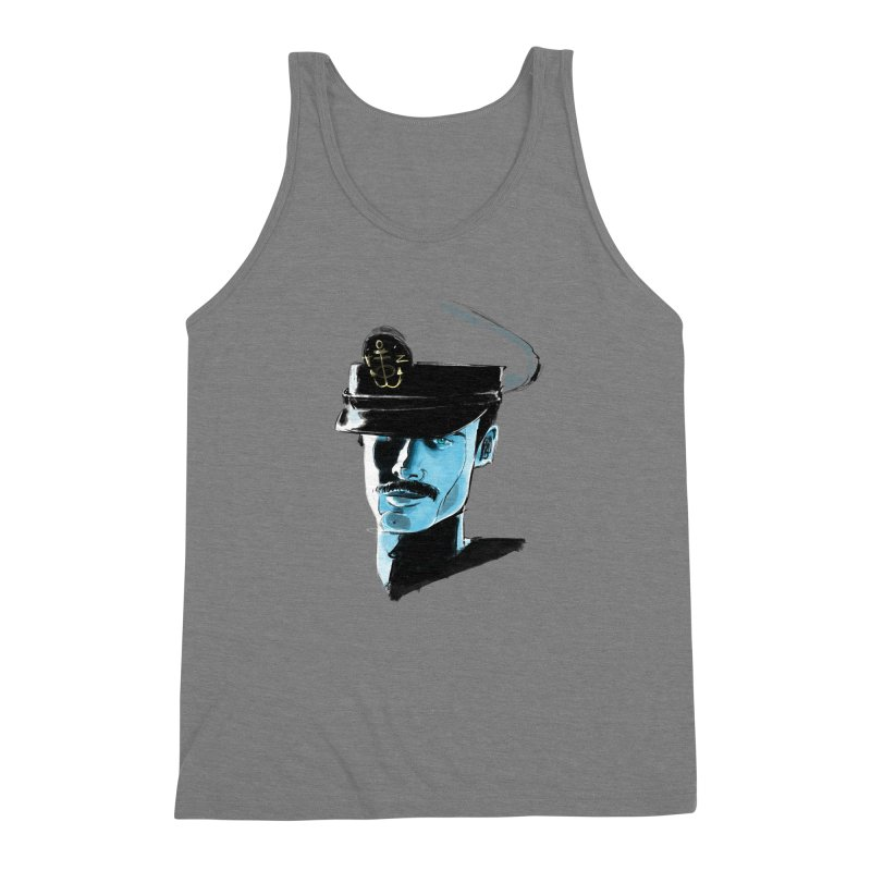 Captain Men's Triblend Tank by Ego Rodriguez