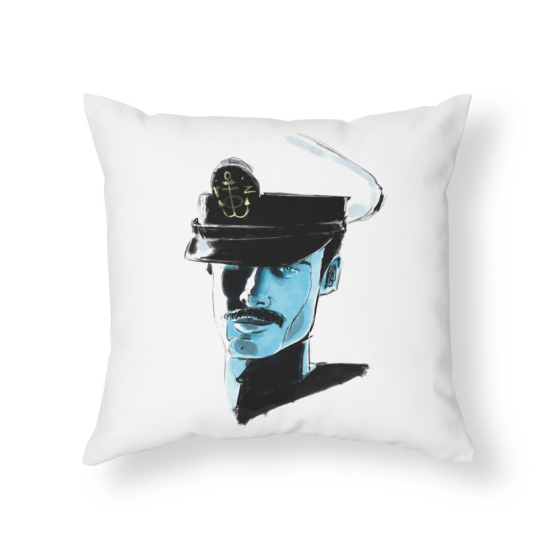 Captain Home Throw Pillow by Ego Rodriguez