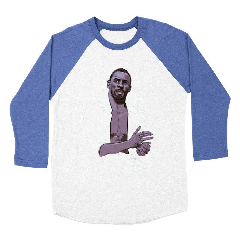 Idris Men's Baseball Triblend Longsleeve T-Shirt by Ego Rodriguez