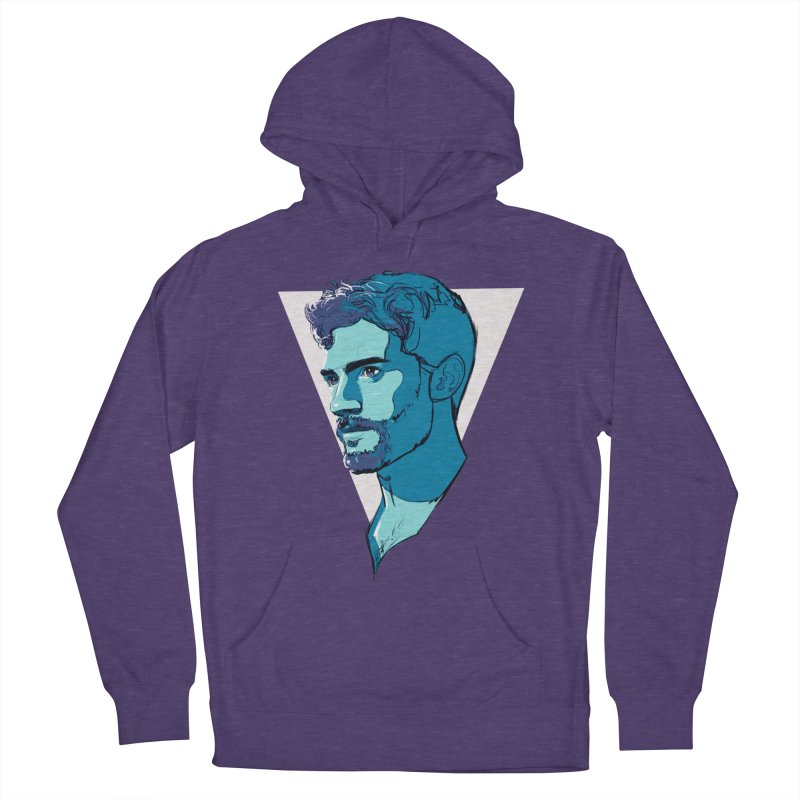 Jamie Men's French Terry Pullover Hoody by Ego Rodriguez