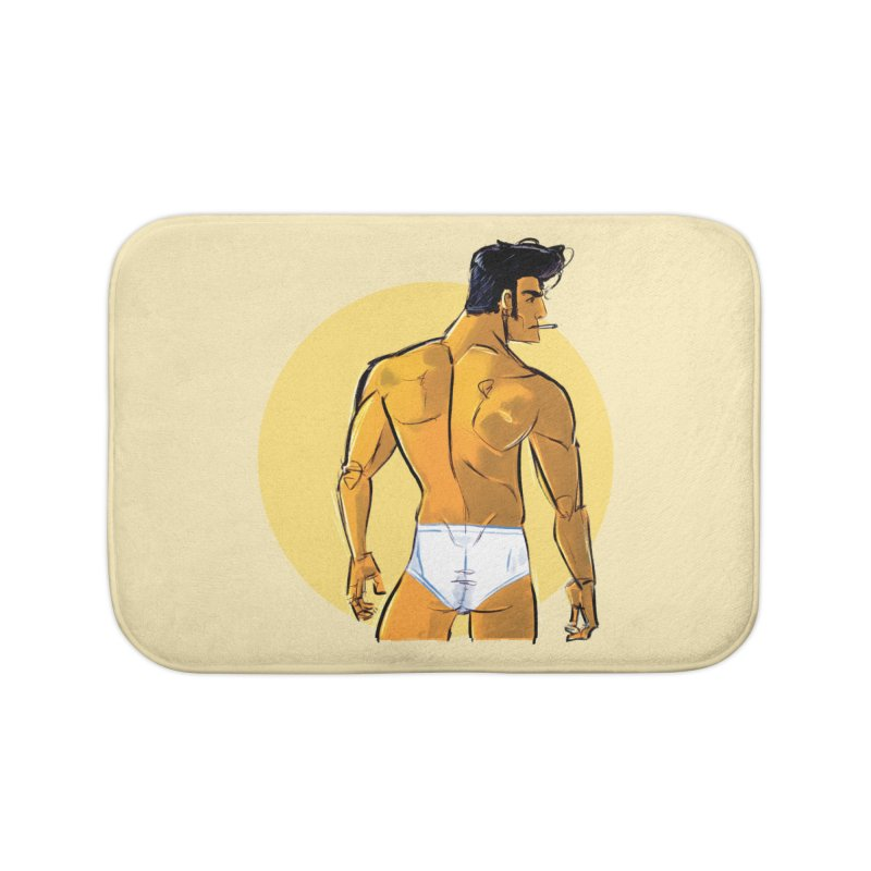 Johnny Home Bath Mat by Ego Rodriguez