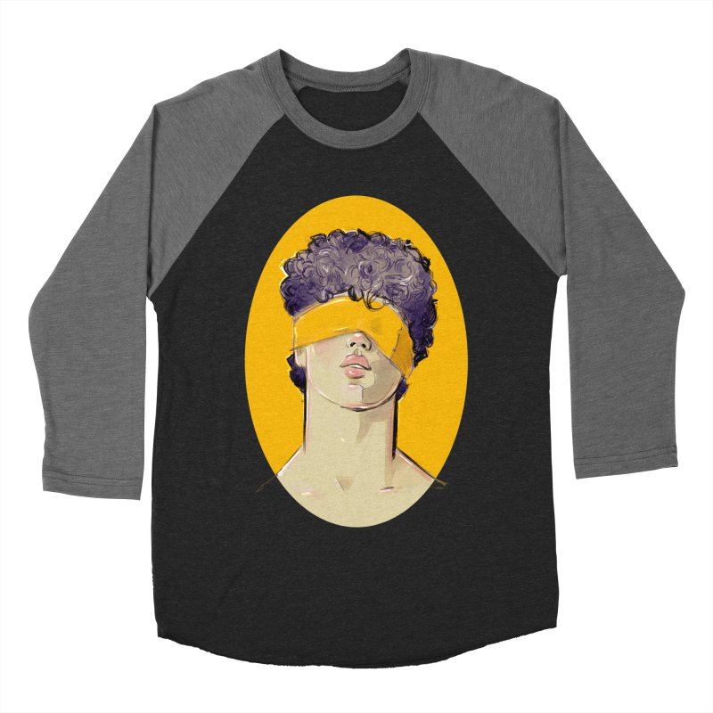 Phillipe Men's Baseball Triblend Longsleeve T-Shirt by Ego Rodriguez