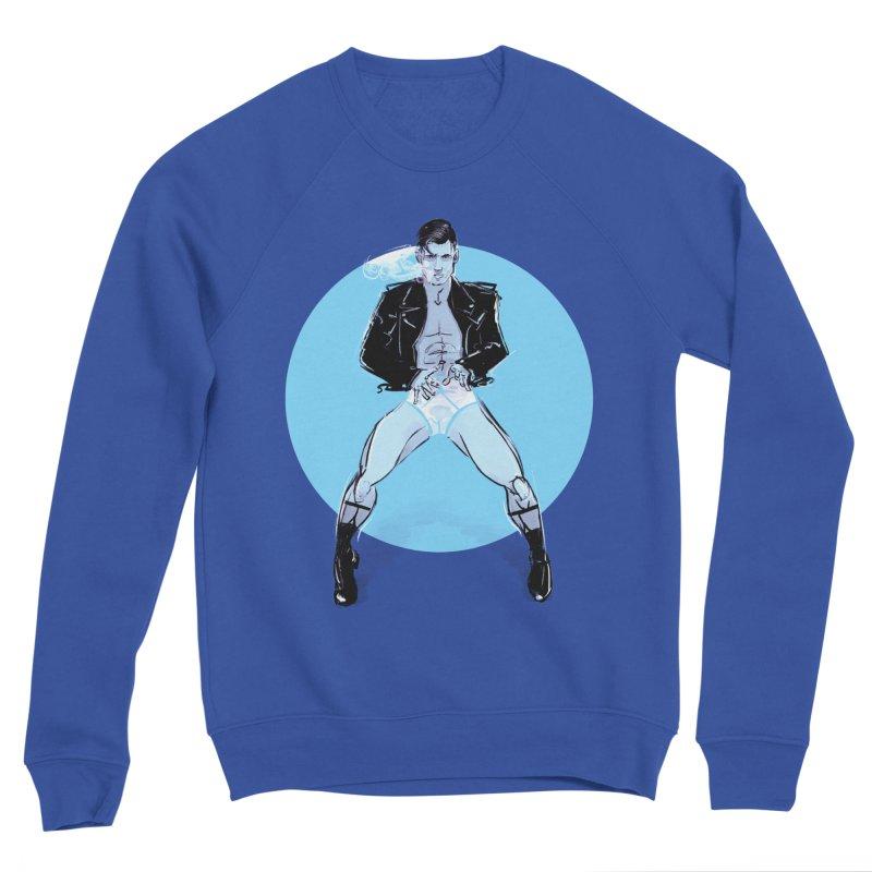 RocknRoll Men's Sponge Fleece Sweatshirt by Ego Rodriguez