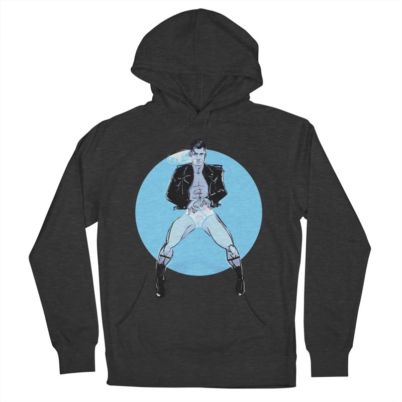 RocknRoll Men's French Terry Pullover Hoody by Ego Rodriguez