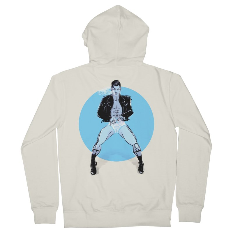 RocknRoll Women's French Terry Zip-Up Hoody by Ego Rodriguez