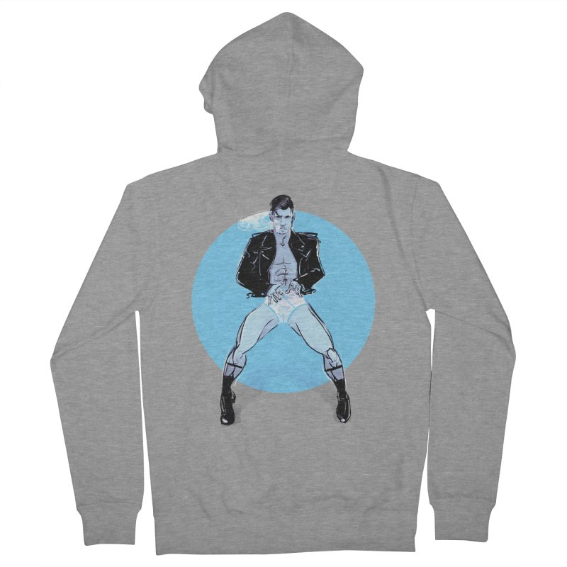 RocknRoll Men's French Terry Zip-Up Hoody by Ego Rodriguez