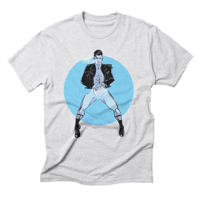 RocknRoll in Men's Triblend T-Shirt Heather White by Ego Rodriguez
