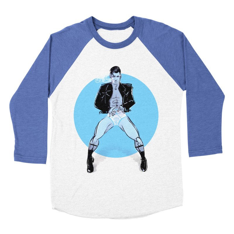 RocknRoll Men's Baseball Triblend Longsleeve T-Shirt by Ego Rodriguez