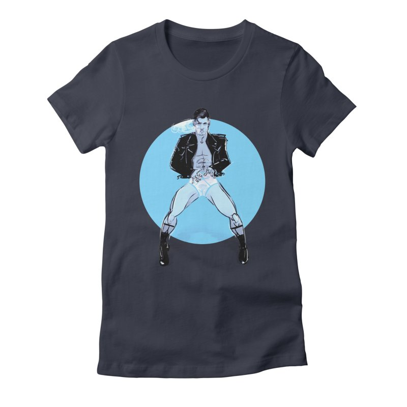 RocknRoll Women's Fitted T-Shirt by Ego Rodriguez