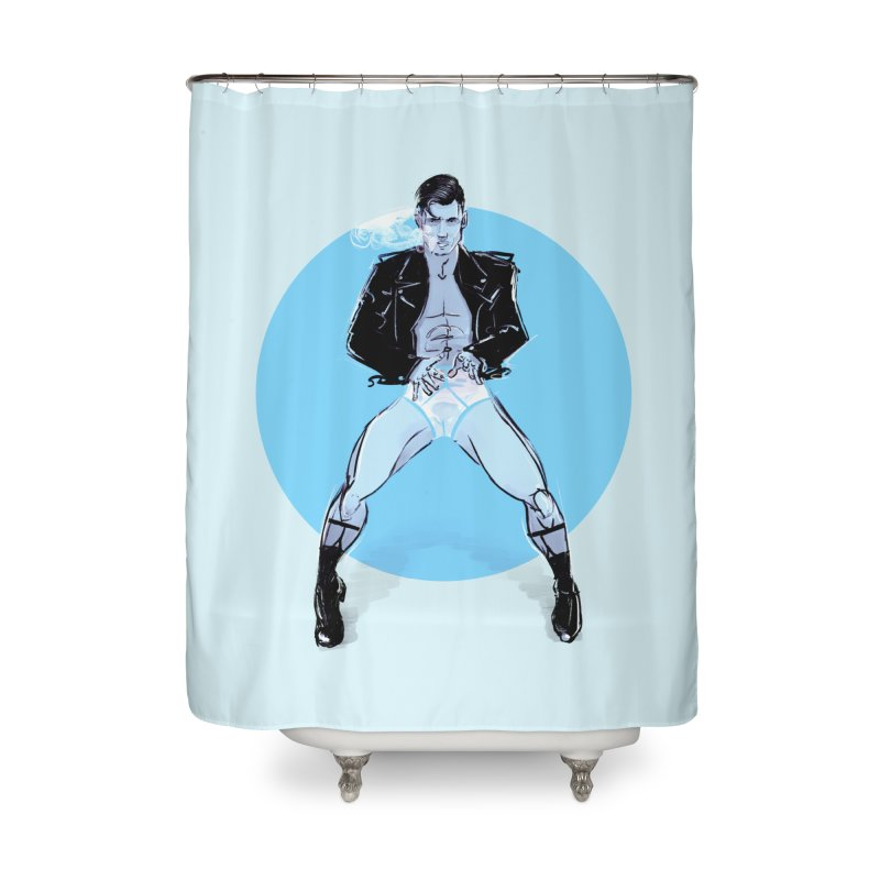 RocknRoll Home Shower Curtain by Ego Rodriguez