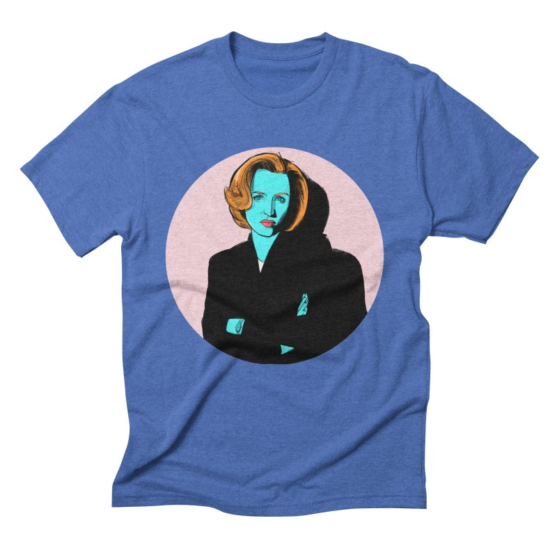 Scully in Men's Triblend T-Shirt Blue Triblend by Ego Rodriguez's Shop