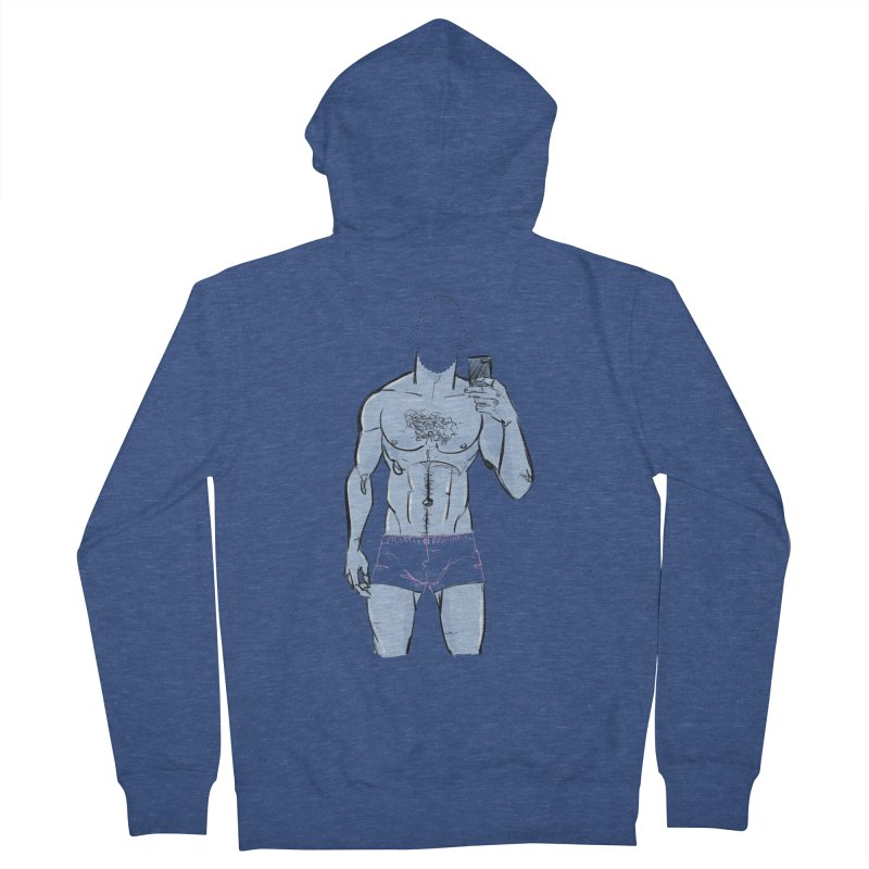 Template Men's French Terry Zip-Up Hoody by Ego Rodriguez
