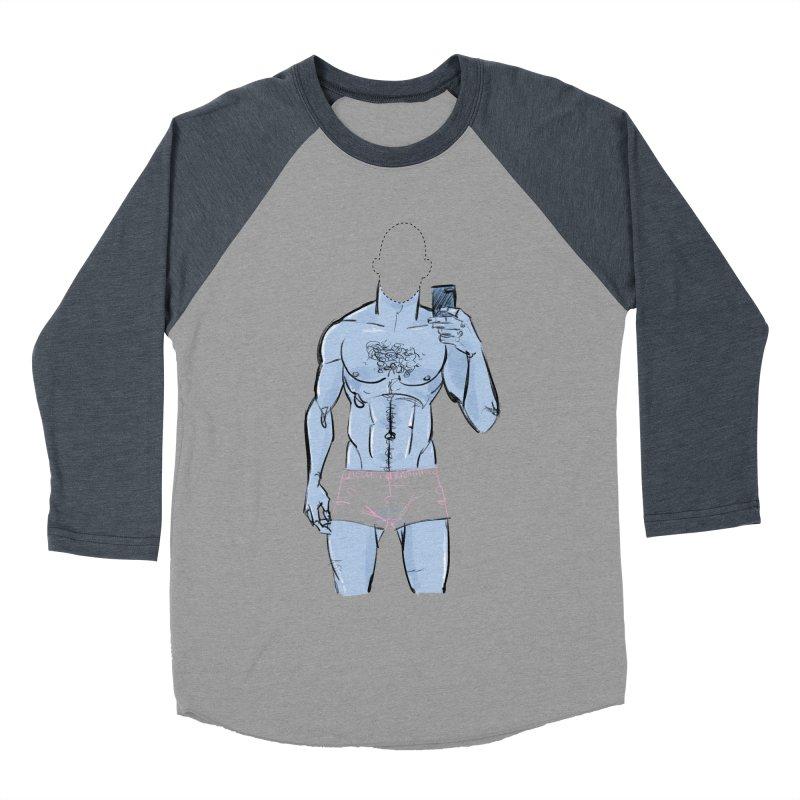 Template Men's Baseball Triblend Longsleeve T-Shirt by Ego Rodriguez