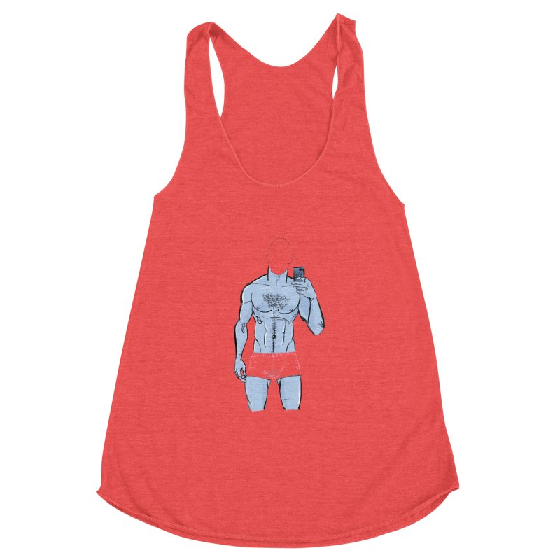 Template Women's Racerback Triblend Tank by Ego Rodriguez