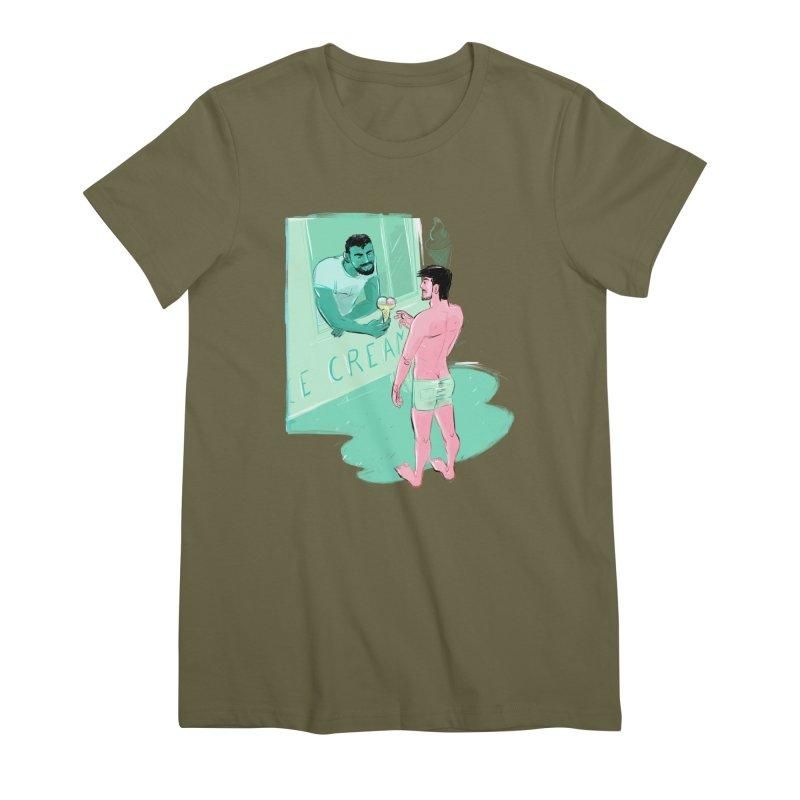 Ice Cream Women's Premium T-Shirt by Ego Rodriguez