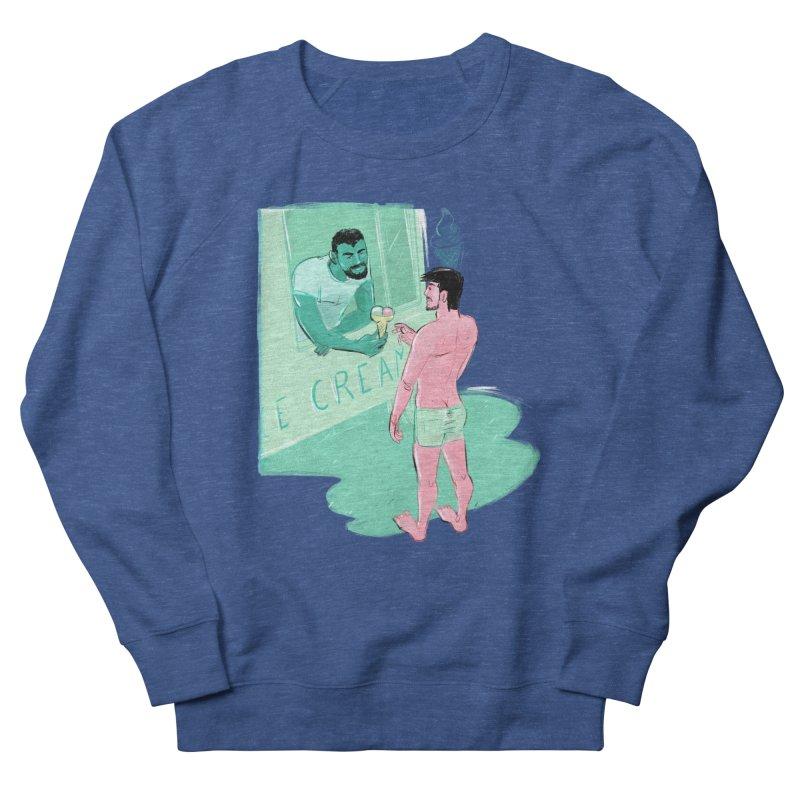 Ice Cream Men's French Terry Sweatshirt by Ego Rodriguez