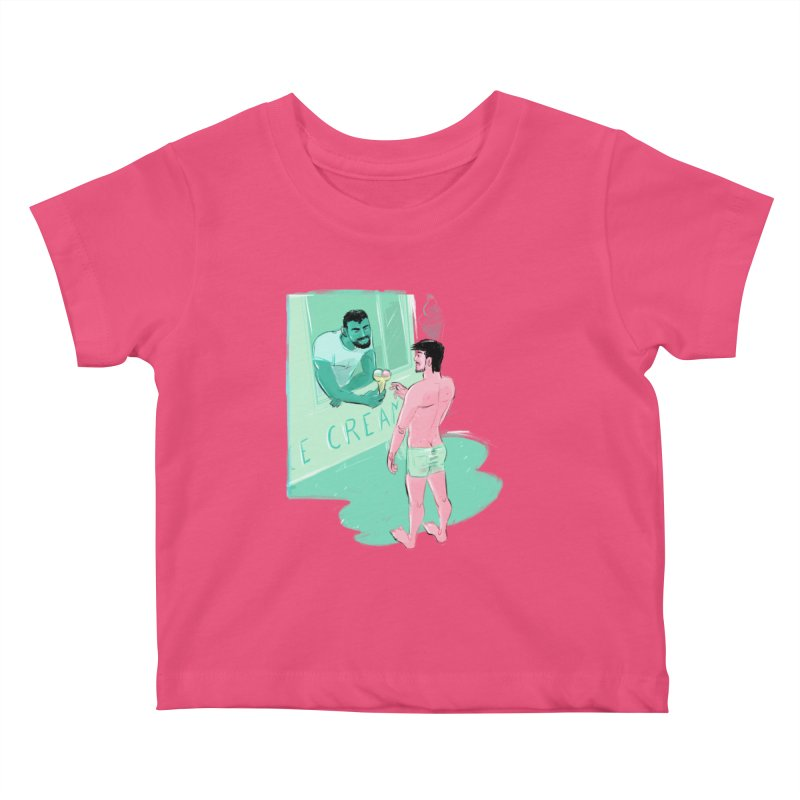 Ice Cream Kids Baby T-Shirt by Ego Rodriguez