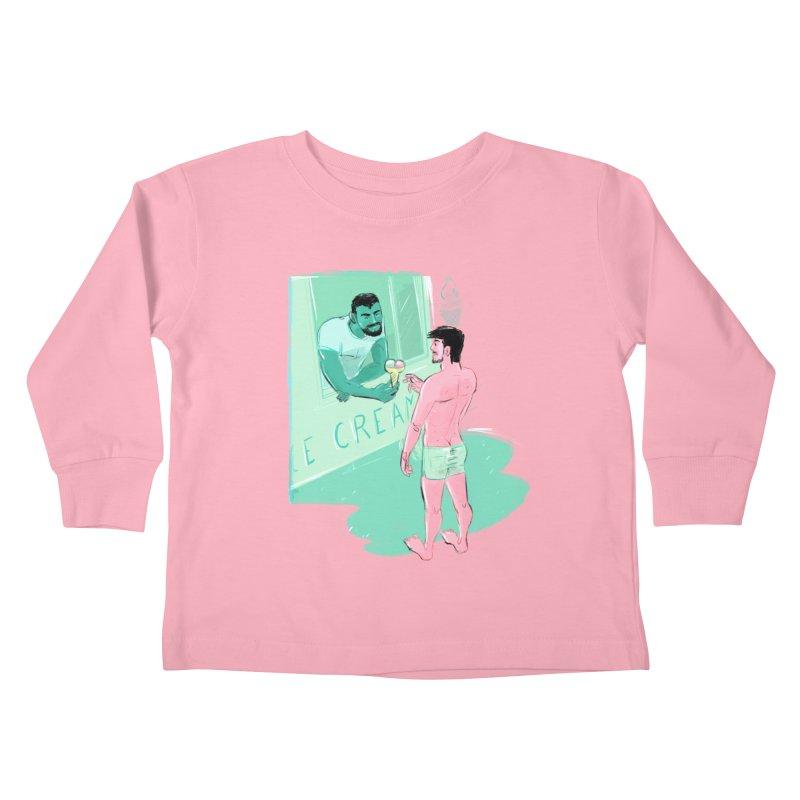 Ice Cream Kids Toddler Longsleeve T-Shirt by Ego Rodriguez