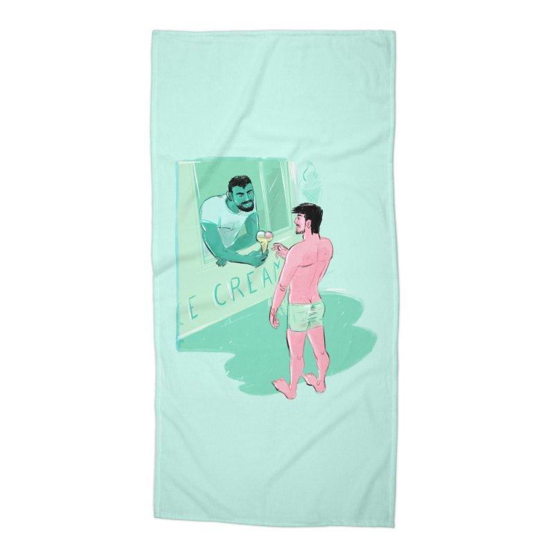 Ice Cream Accessories Beach Towel by Ego Rodriguez