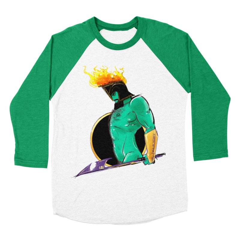 Ares Men's Baseball Triblend Longsleeve T-Shirt by Ego Rodriguez