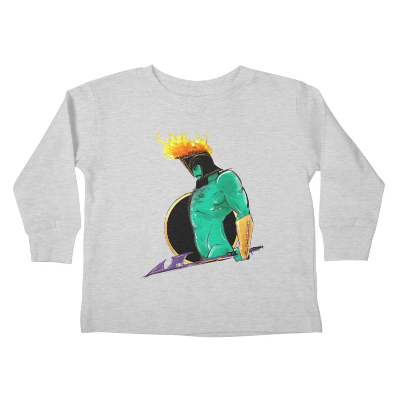 Ares Kids Toddler Longsleeve T-Shirt by Ego Rodriguez