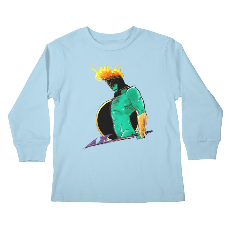 Ares Kids Longsleeve T-Shirt by Ego Rodriguez