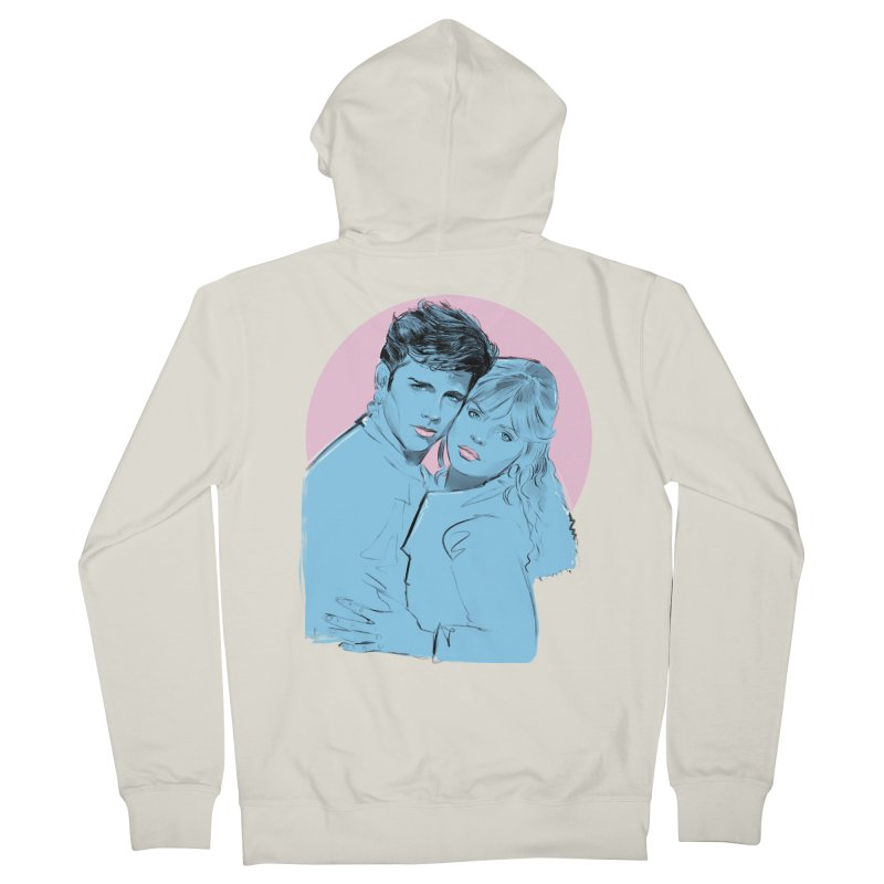 Grease 2 Men's French Terry Zip-Up Hoody by Ego Rodriguez
