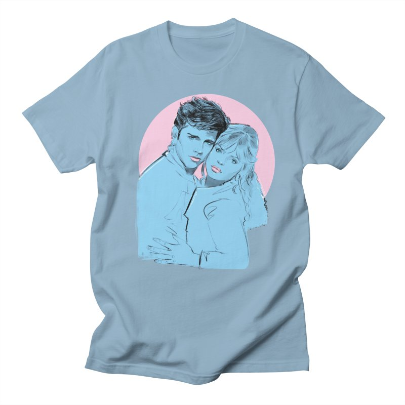 Grease 2 in Men's Regular T-Shirt Light Blue by Ego Rodriguez