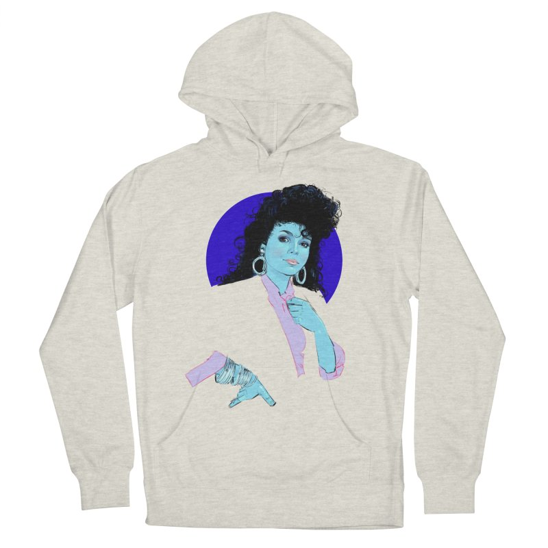 Janet Men's French Terry Pullover Hoody by Ego Rodriguez