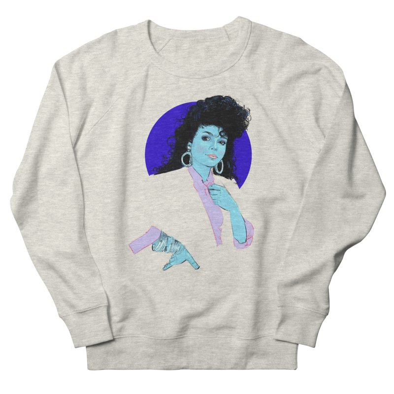 Janet Men's French Terry Sweatshirt by Ego Rodriguez