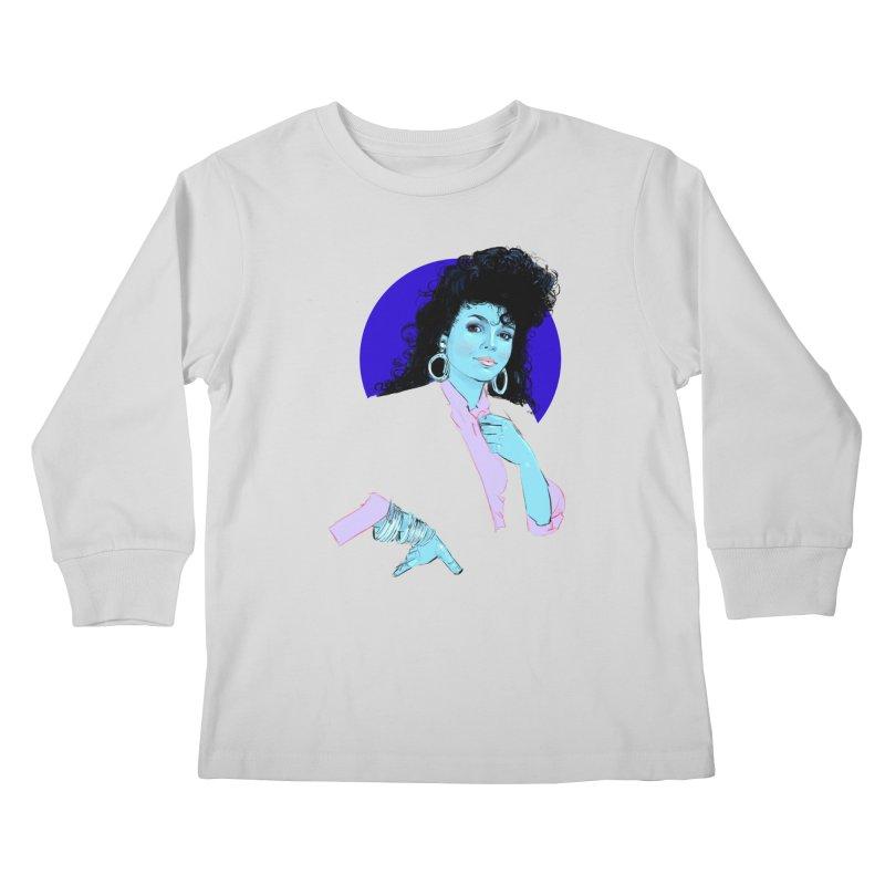 Janet Kids Longsleeve T-Shirt by Ego Rodriguez