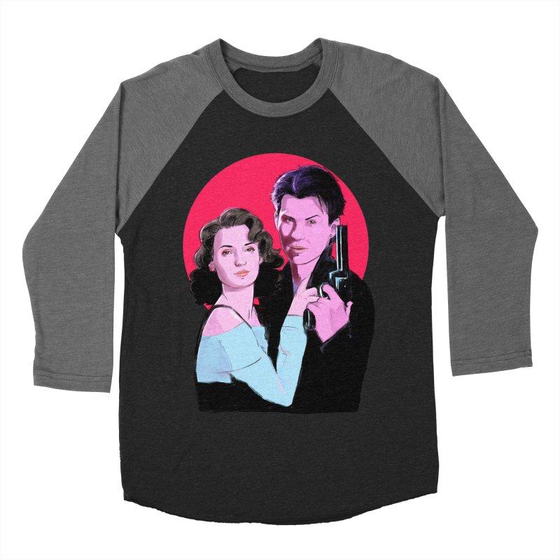 Veronica & JD Women's Baseball Triblend Longsleeve T-Shirt by Ego Rodriguez