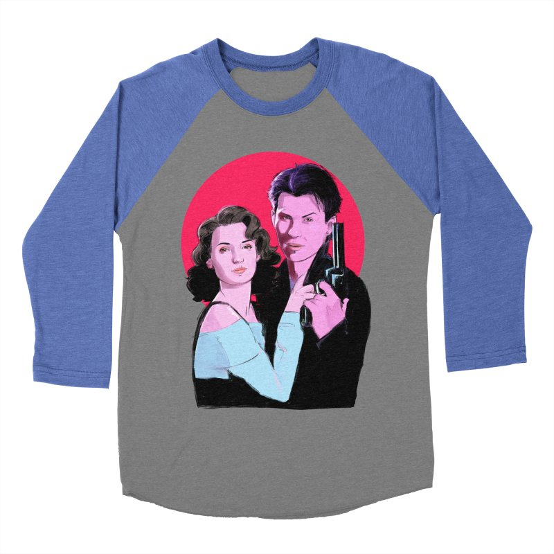Veronica & JD Men's Baseball Triblend Longsleeve T-Shirt by Ego Rodriguez