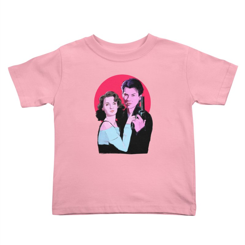 Veronica & JD Kids Toddler T-Shirt by Ego Rodriguez