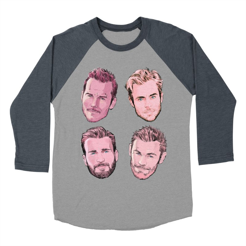 Chris-mas Men's Baseball Triblend Longsleeve T-Shirt by Ego Rodriguez