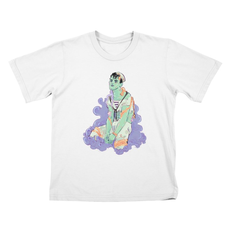 Shipwreck Sailor Kids T-Shirt by Ego Rodriguez