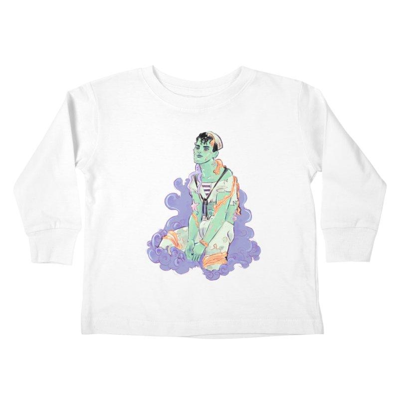 Shipwreck Sailor Kids Toddler Longsleeve T-Shirt by Ego Rodriguez