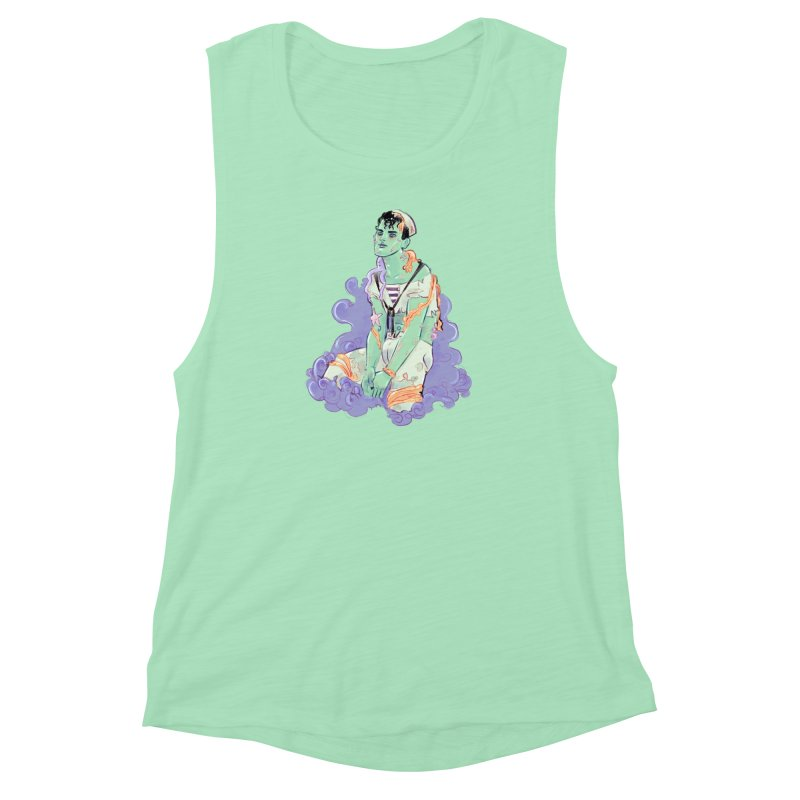 Shipwreck Sailor Women's Muscle Tank by Ego Rodriguez