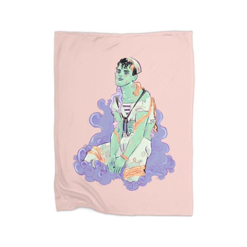 Shipwreck Sailor Home Blanket by Ego Rodriguez