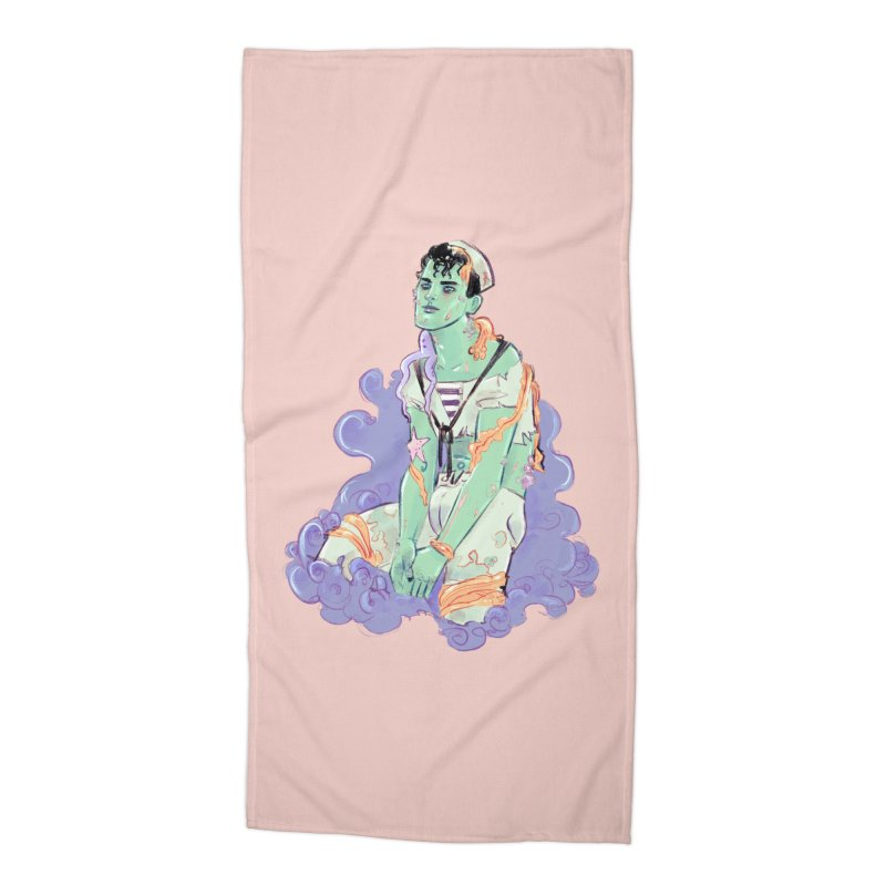 Shipwreck Sailor Accessories Beach Towel by Ego Rodriguez