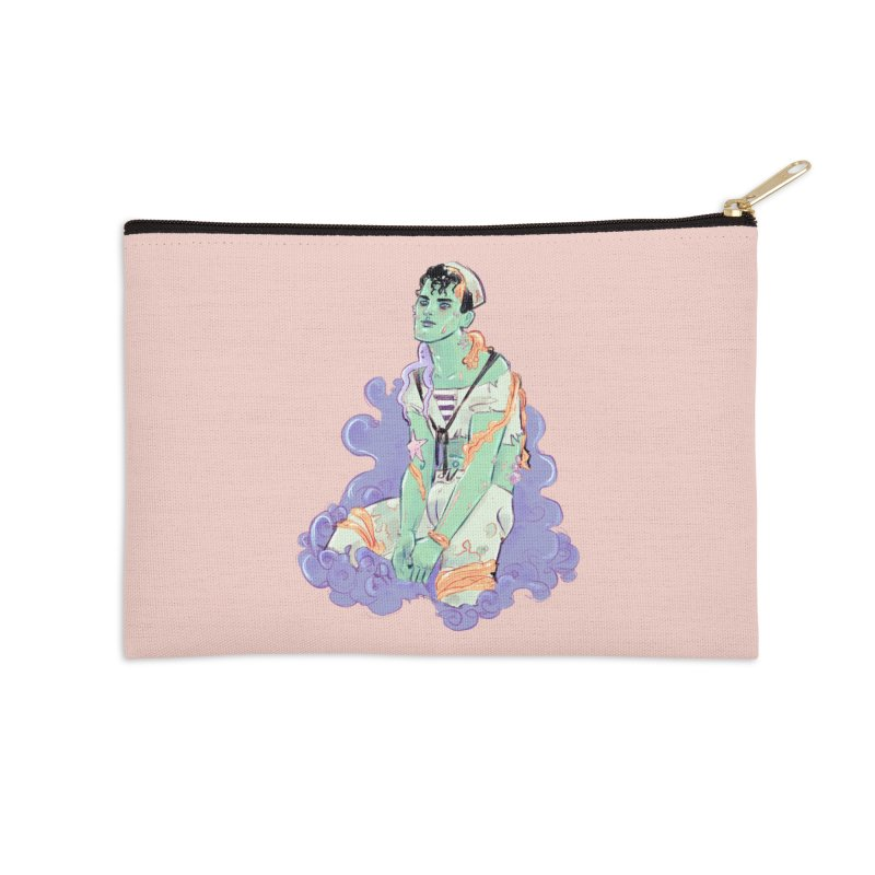 Shipwreck Sailor Accessories Zip Pouch by Ego Rodriguez