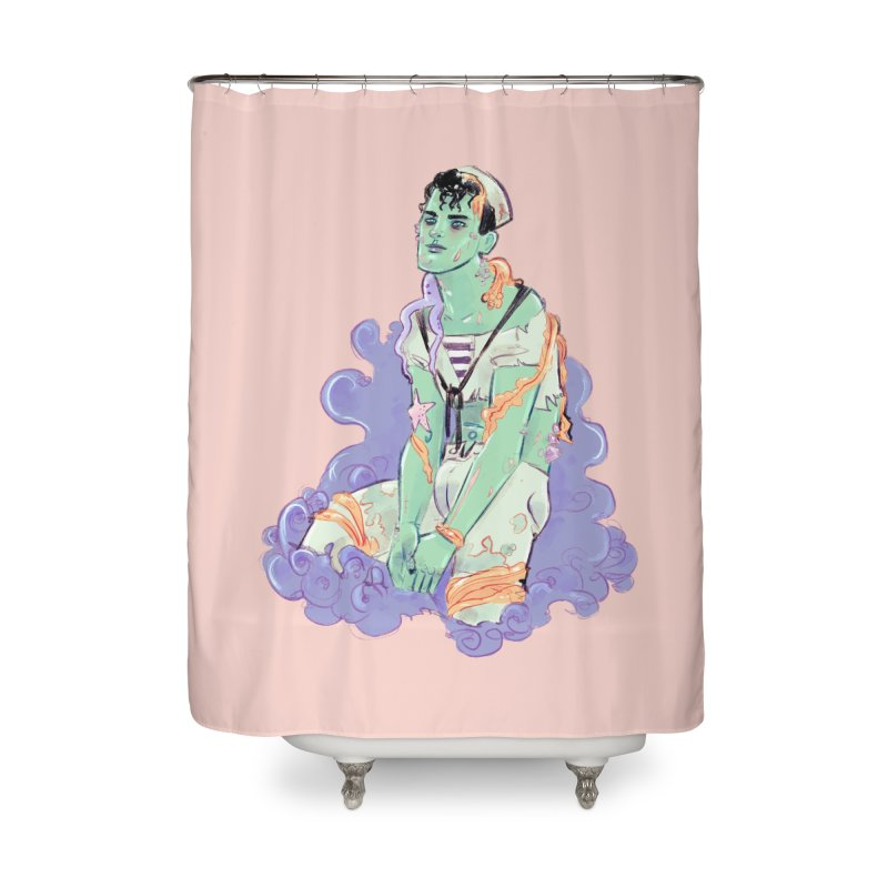 Shipwreck Sailor Home Shower Curtain by Ego Rodriguez