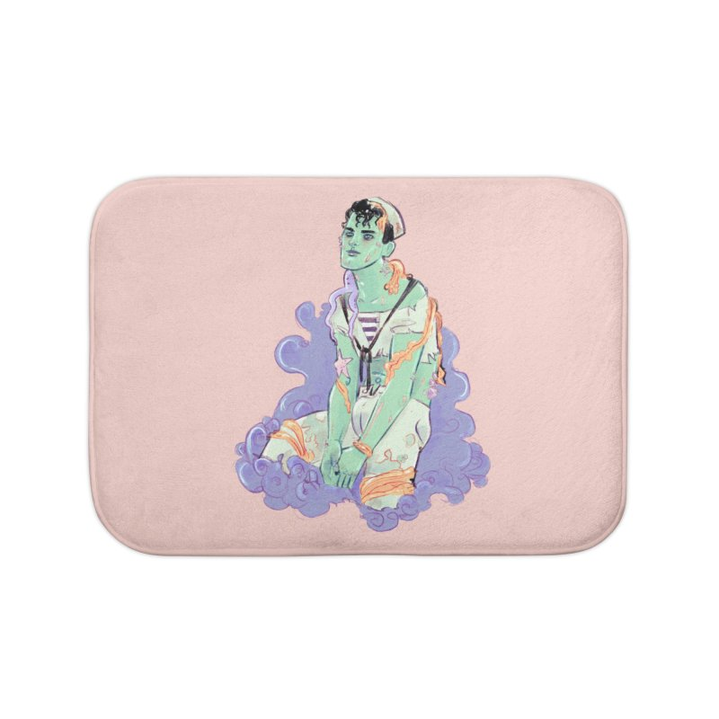 Shipwreck Sailor Home Bath Mat by Ego Rodriguez